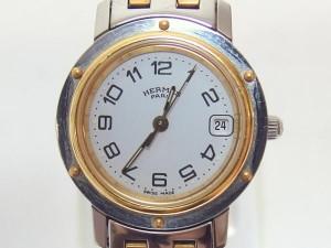 エルメス HERMES クリッパー コンビ レディース腕時計